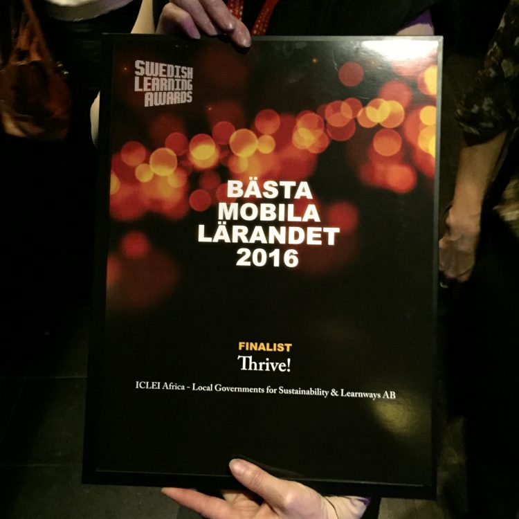 Picture of Best Mobile Learning award